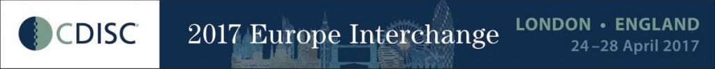 London 2017 CDISC Interchange Banner