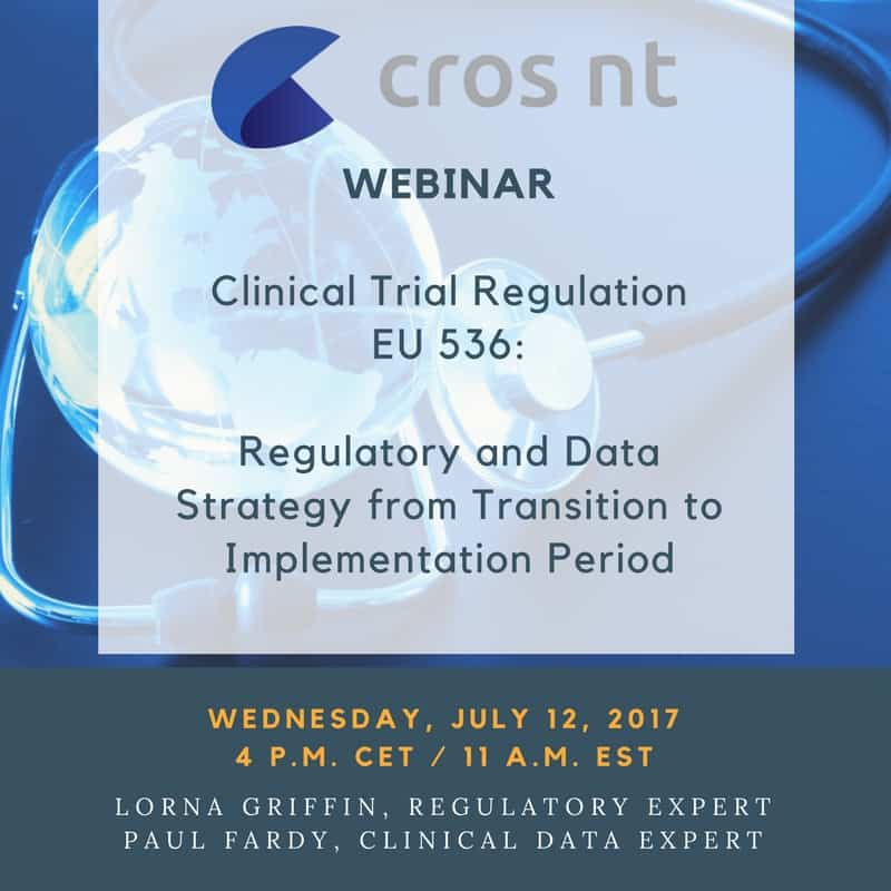Webinar Regulatory and Data Clinical Trial Regulation EU 6